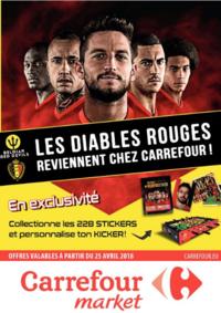 Prospectus Carrefour Market SPY : Les diables rouges reviennent chez Carrefour !