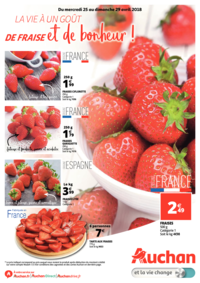 Prospectus Auchan Val d'Europe Marne-la-Vallée : La vie a un goût de fraise et de bonheur !