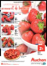 Prospectus Auchan : La vie a un goût de fraise et de bonheur !