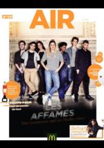 Catalogues et collections Mc Donald's : Air le Mag du mois de juin 2018