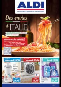 Prospectus Aldi Aulnay-sous-Bois : Des envies d'Italie