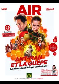Journaux et magazines McDonald's - SAINT GERMAIN EN LAYE : Air le Mag du mois de juillet 2018