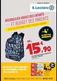 Prospectus E.Leclerc SAINT GREGOIRE : Réconcilier envies des enfants et budget des parents