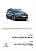 Prospectus  : Peugeot Partner Tepee  Electric