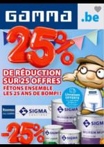 Prospectus GAMMA : 25% de réduction sur 25 offres