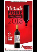 Prospectus Auchan : L'étonnante foire aux vins 2018 !