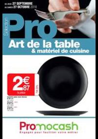 Prospectus Promocash : Sélection Pro Art de la table et matériel de cuisine du 27 septembre au 27 octobre 2018