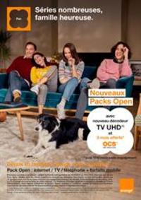 Prospectus Orange : Orange - Séries nombreuses, famille heureuse.