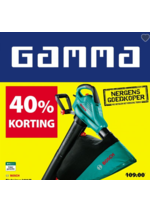 Prospectus GAMMA : 40% korting