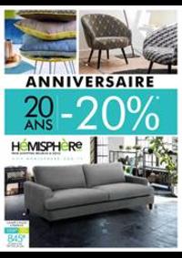 Prospectus Hémisphere Sud Rennes : Anniversaire