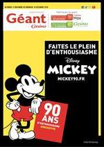 Prospectus Géant Casino : Les 90 ans de Mickey