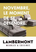 Prospectus Meubles Lambermont  : Novembre, le moment de se détendre