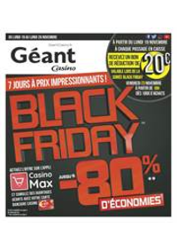 Prospectus Géant Casino SAINT-LOUIS : BLACK FRIDAY