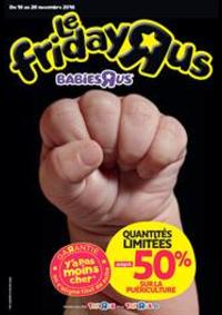 Prospectus Babies R Us ÉRAGNY Centre commercial Art de Vivre : Offres Black Friday Toys R Us!