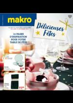 Prospectus Makro : Délicieuses fêtes