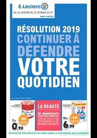 Prospectus E.Leclerc MOISSELLES : Résolution 2019 continuer à défendre votre quotidien