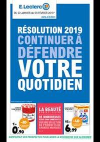 Prospectus E.Leclerc EPINAY SUR SEINE SAINT LEU : Résolution 2019 continuer à défendre votre quotidien