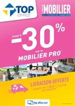 Prospectus Top office : Jusqu'à 30% sur le mobilier pro
