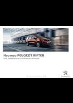 Prospectus Peugeot : Peugeot Rifter
