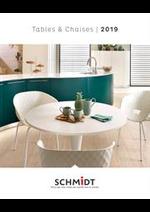 Prospectus Cuisines Schmidt : Catalogue SCHMIDT Tables et Chaises 2019