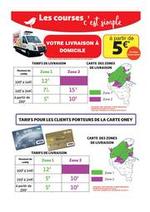Prospectus Auchan : Nouveaux tarifs de livraison à domicile !