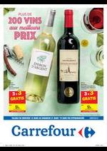 Prospectus Carrefour : Plus de 200 vins aux meilleurs prix !