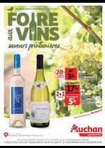 Prospectus Auchan Supermarché : Foire aux vins saveurs printanières