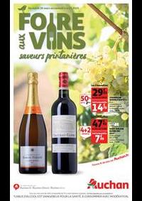Prospectus Auchan Val d'Europe Marne-la-Vallée : Foire aux vins, saveurs printanières