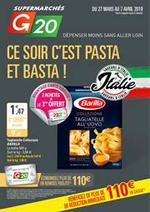 Prospectus G20 : Ce soir c'est pasta et basta!