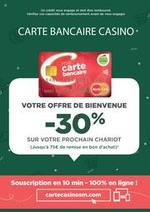 Prospectus Supermarchés Casino : Offre de bienvenue carte bancaire Casino