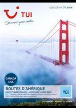 Prospectus TUI : Routes d'Amérique