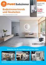 Journaux et magazines Fust : Badezimmerprospekt - Kurz und prägnant