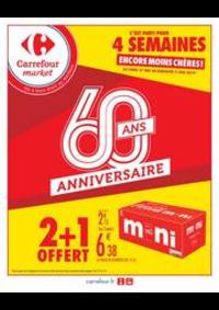 Promos et remises Carrefour Market PARIS 102-104 AVENUE GENERAL LECLERC : 2 + 1 OFFERT