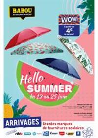 Prospectus Babou BAGNOLET : Hello Summer