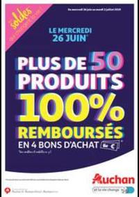 Prospectus Auchan OSNY : Plus de 50 produits 100% remboursés en 4 bons d'achat