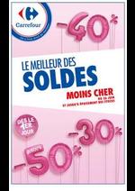 Prospectus Carrefour : LE MEILLEUR DES SOLDES MOINS CHER