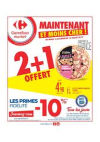 Prospectus Carrefour Market MASSY : 2 + 1 OFFERT
