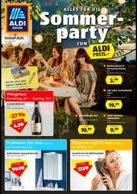 Prospectus Aldi Bern - Eigerstrasse  : Alles fur die Sommer party zum Aldi Preis.