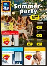 Prospectus Aldi : Alles fur die Sommer party zum Aldi Preis.