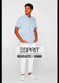Prospectus Esprit Paris Rue de Mogador / Boulevard Haussmann 10-12 : Nouveautés / Homme