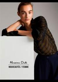 Catalogues et collections Massimo Dutti PARIS 24 RUE ROYAL PL. DE LA MA : Nouveautés  Femme