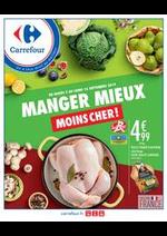 Prospectus Carrefour : Manger mieux, moins cher !