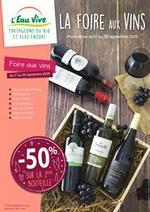 Prospectus L'eau vive : La foire aux vins