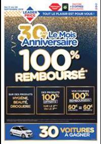 Prospectus Leader Price Romainville 9 RUE PAUL DOUMER : 100% Remboursé
