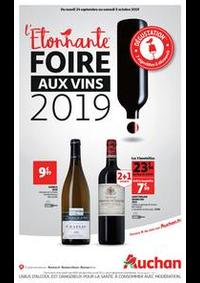 Prospectus Auchan Drive VELIZY : L'étonnante foire aux vins 2019 !