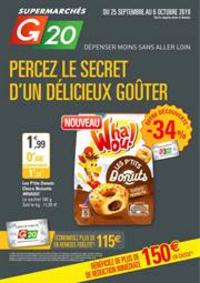 Prospectus G20 PARIS 1 Louvre : Percez le secret d'un délicieux goûter