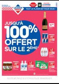 Prospectus Leader Price Ivry-sur-Seine : Jusqu'à 100% offert sur le 2ème