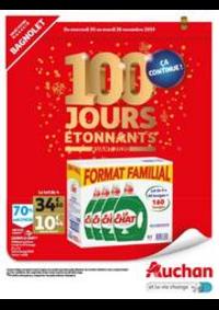Prospectus Auchan BAGNOLET : 100 JOURS ETONNANTS : Ca Continue !