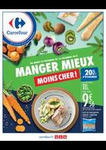 Prospectus Carrefour : MANGER MIEUX MOINS CHER !