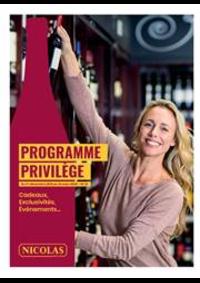 Prospectus NICOLAS SENS : Programme Privilège